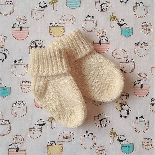 Baa-sic Socks 2 - CDBHFF - Cuff-Down Baby Socks