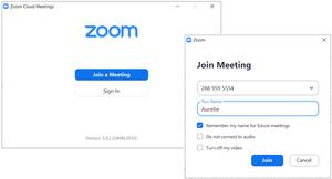 Screenshots of Zoom App