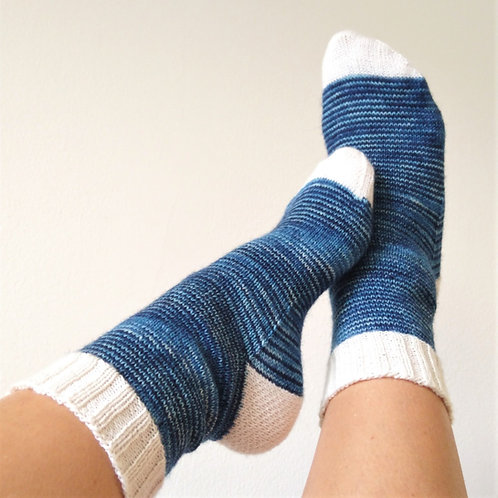 Baa-sic Socks 1 - CDAHFF - Cuff-Down Adult Socks