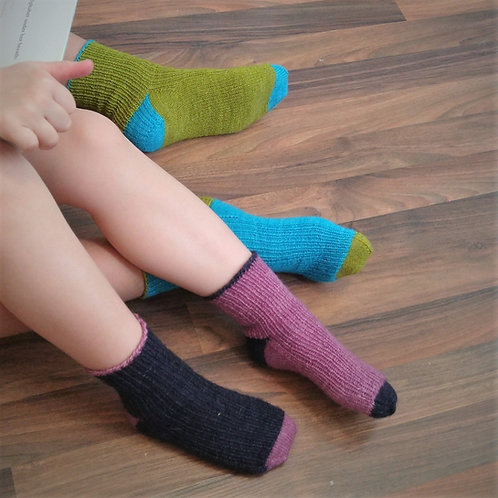 Baa-sic Socks 3 - CDCHFF - Cuff-Down Child Socks