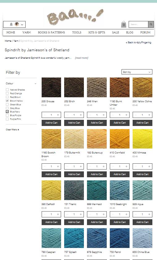 Jamieson's of Shetland Spindrift - All shades available at Baa!