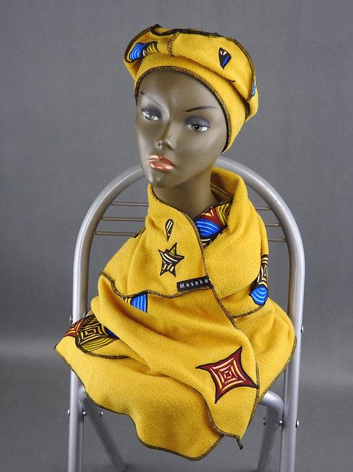 Echarpe et Bonnet jaune 2
