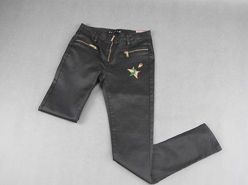 Pantalon logo jaune vert rose