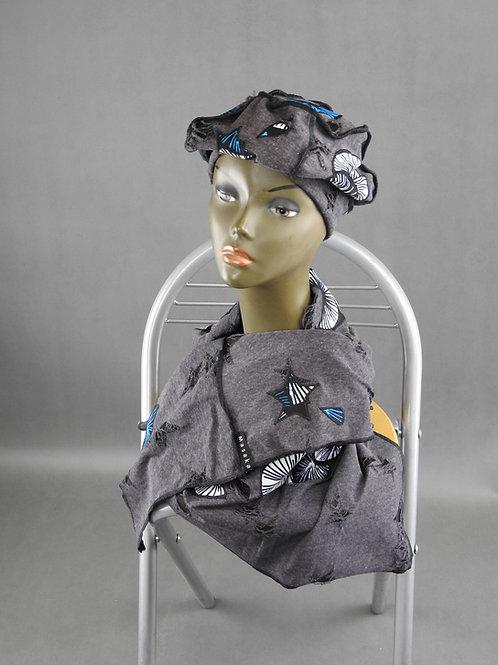 Echarpe et Bonnet gris