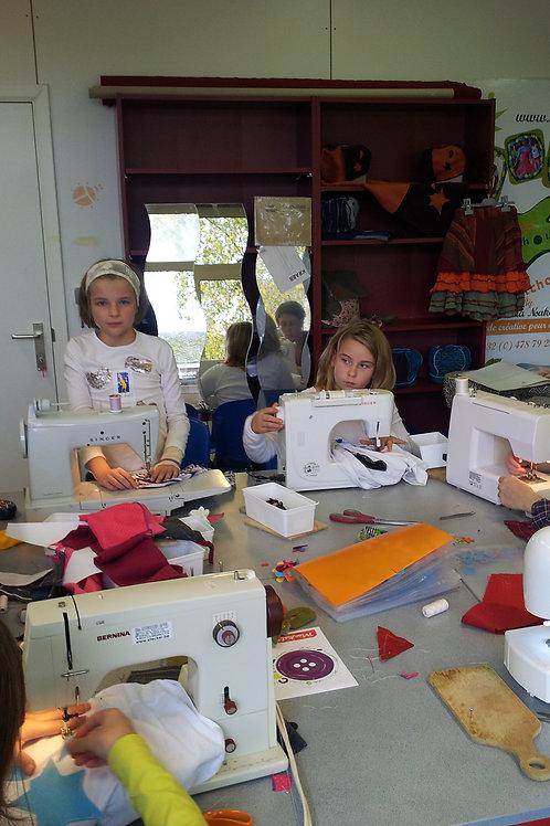 Cours de couture pour enfants ou adultes par heure