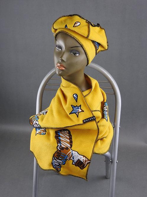 Echarpe et Bonnet jaune