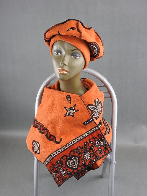 Echarpe et Bonnet orange