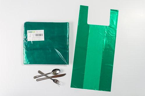 Bolsa Cargadera Verde 17x22¨