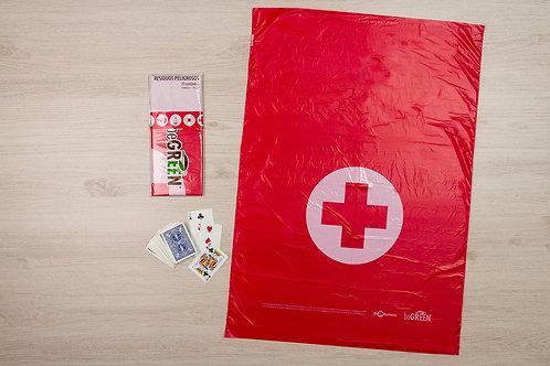 Bolsa Roja Biodegradable 24x34¨