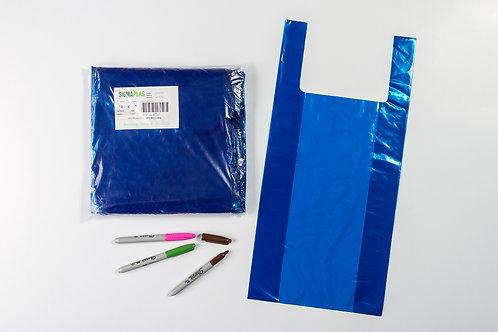Bolsa Cargadera Azul  13x19¨