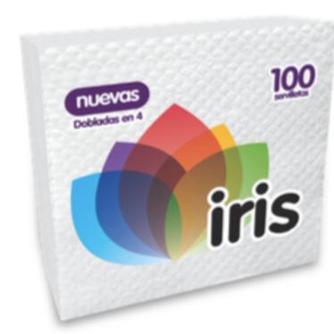 Servilleta Iris x 100