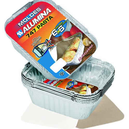 Molde Aluminio Pasta con Tapa