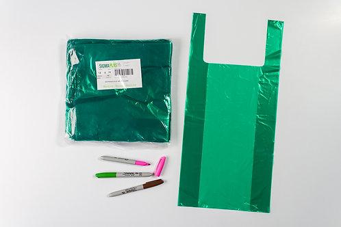Bolsa Cargadera Verde 13x19¨