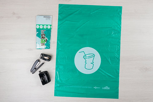 Bolsa Verde de Basura Biodegradable 24x34¨