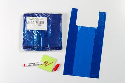 Bolsa Cargadera Azul  12x15