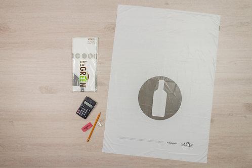 Bolsa Blanca de Basura Biodegradable 24x34¨