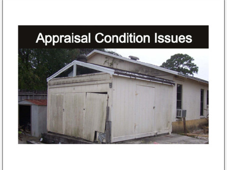 Appraisal Tips For Florida Realtors - Top 5 Condition Issues