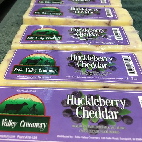 8oz bar of Huckleberry Cheddar