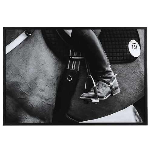 Monochrome Framed Horse 151 Picture 108cm
