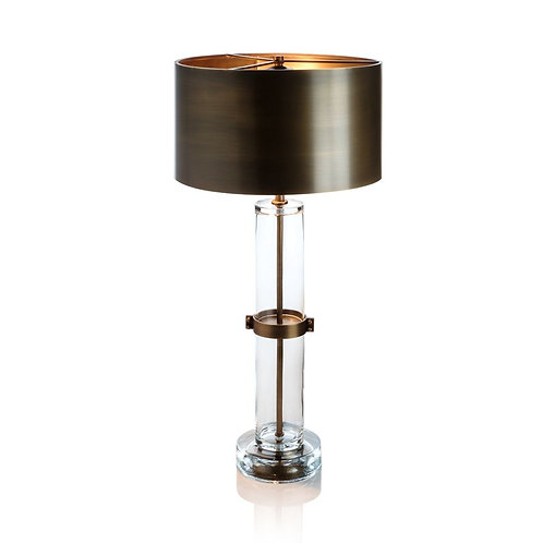 Sanders Column Table Lamp with Metal Shade