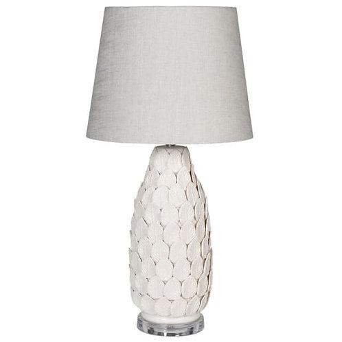 Ceramic Leaf Lamp with Acrylic Base