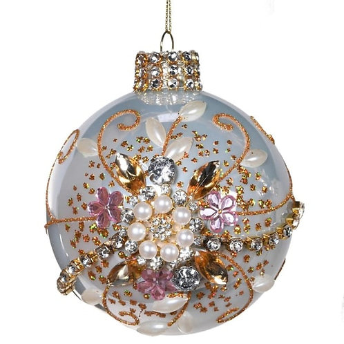 Pink Champagne Swirl Bauble