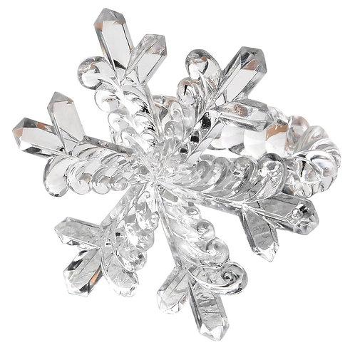 S/4 Snowflake Napkin Rings