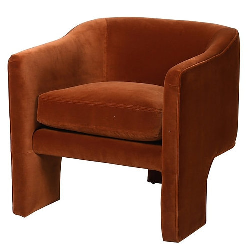 Raw Amber Velvet Effie Chair