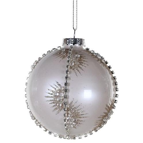 White Diamante Glit.bauble