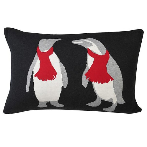 Penguins in Scarfs Cushion Cover