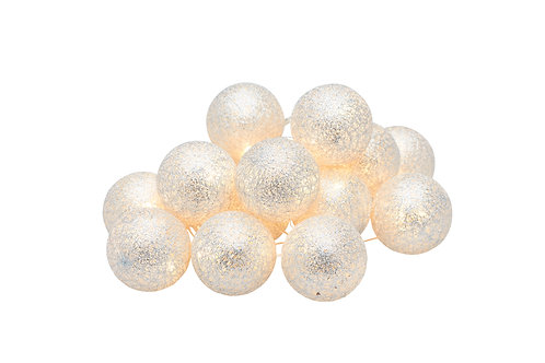 Silver Bolette Mini Balls String Of Lights