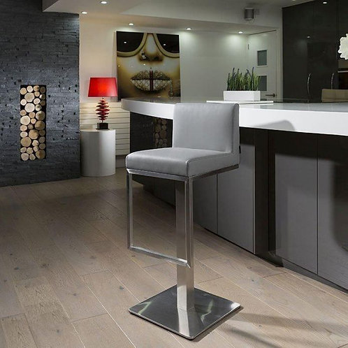 Quatropi Luxury Medium Grey Breakfast Kitchen Bar Stool Barstool