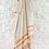 Thumbnail: Ian Mankin 1485 Herringbone Stripe Fringed Throw - Parchment