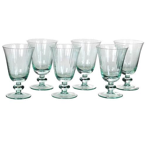 Set of 6 Mint Wine Glasses