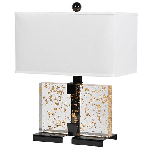 Gold Leaf Acrylic Lamp