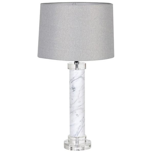 Marble and Acrylic Column Table Lamp