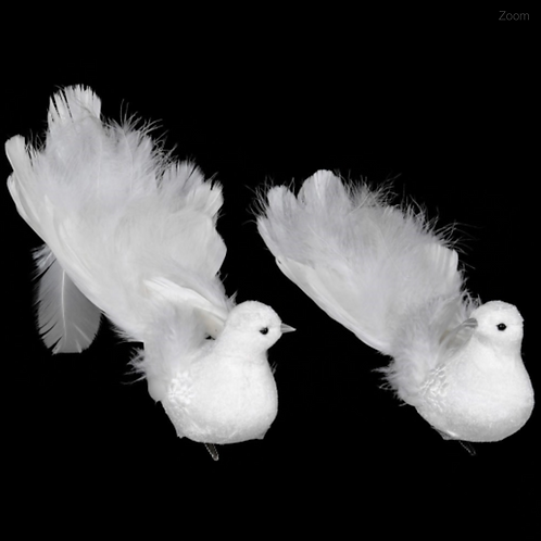 Pair of Feather Doves