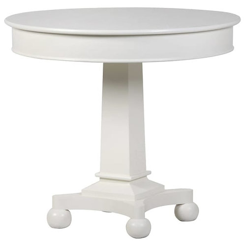 White Fayence Round Dining Table