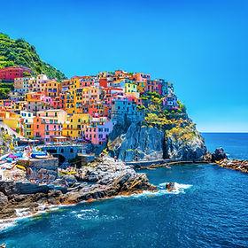 Beautiful colorful cityscape on the moun