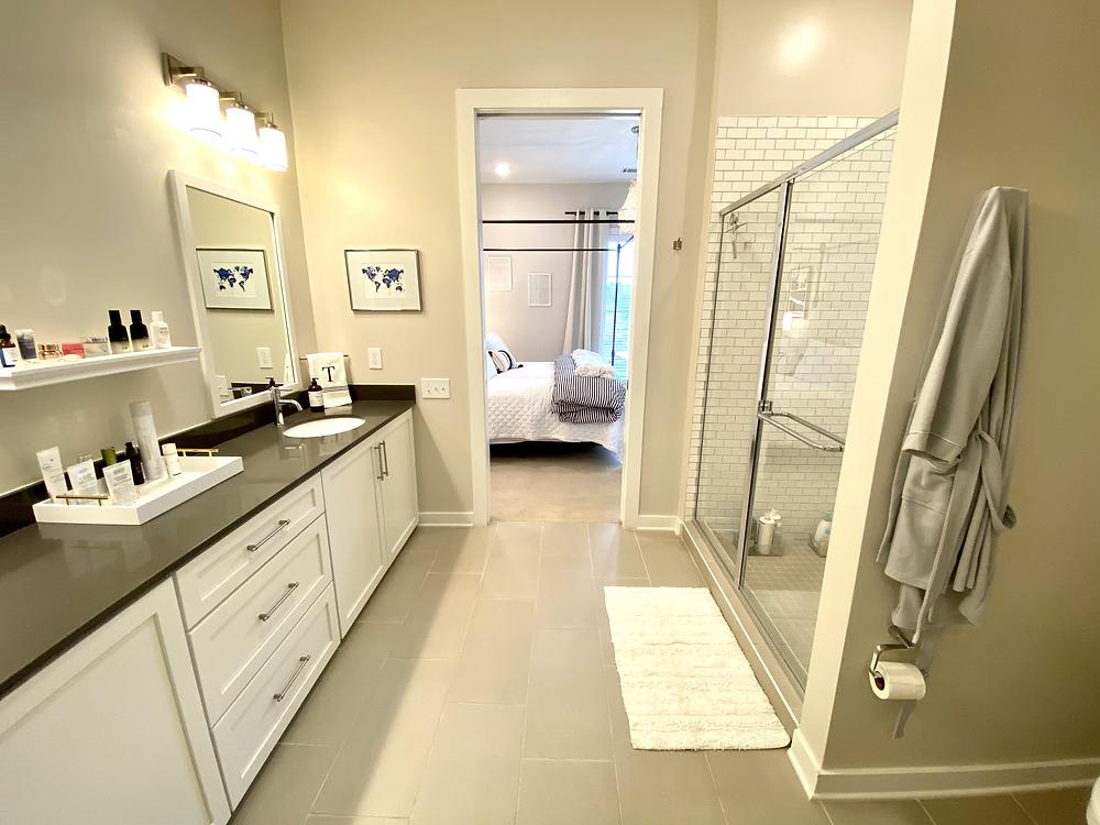 Interior Design, Apartment Style, Master Bathroom