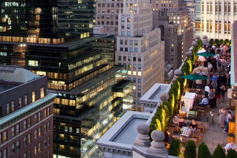 Hotels- The Roosevelt Rooftop Bar NYC