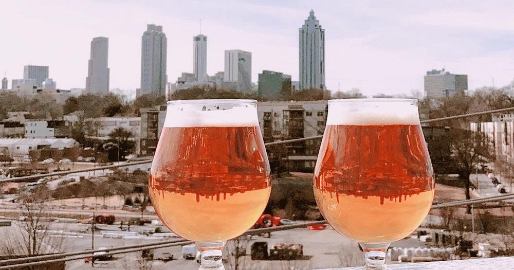 New Realm Brewery, Atlanta, Georgia, Rooftop