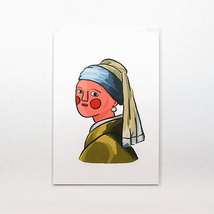 Girl with a Pearl Earring / postcard