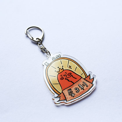 I am犀9利 /acrylic keychain