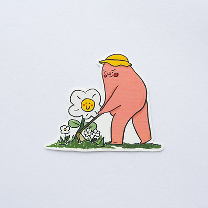默默耕耘的肥教主 /sticker
