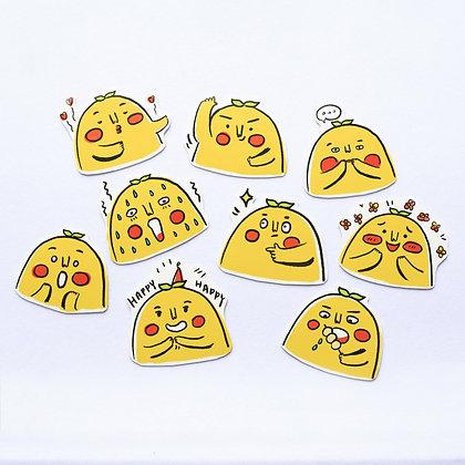 黃色肥野/ sticker