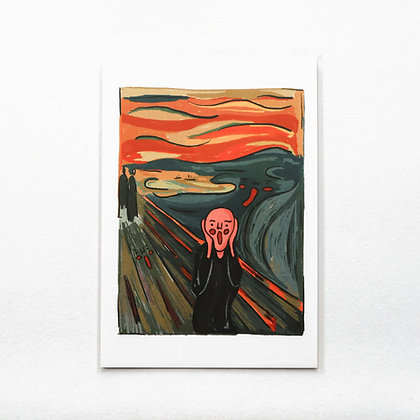 The Scream / postcard