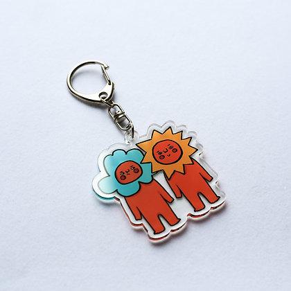 陪住 / acrylic keychains