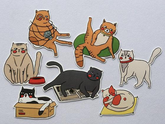 脂貓日常(一套七款) /sticker