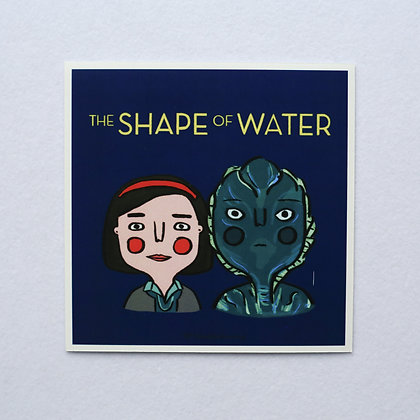 THE SHAPE OF WATER / sticker